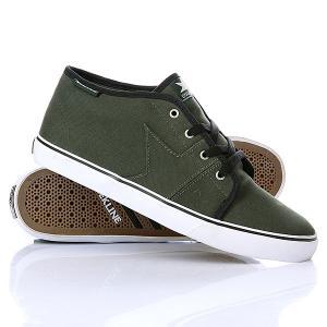 Кеды кроссовки  Harper Dark Army/Black Dekline. Цвет: зеленый