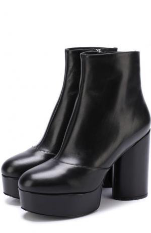 Кожаные ботильоны на устойчивом каблуке и платформе Marc Jacobs. Цвет: черный