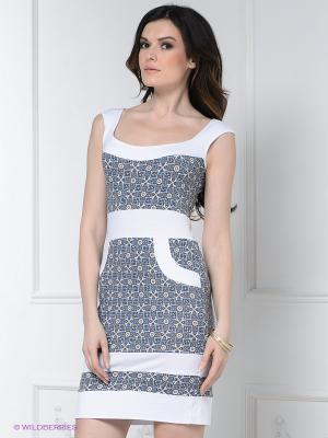 Платье Hammond. Цвет: голубой, бежевый