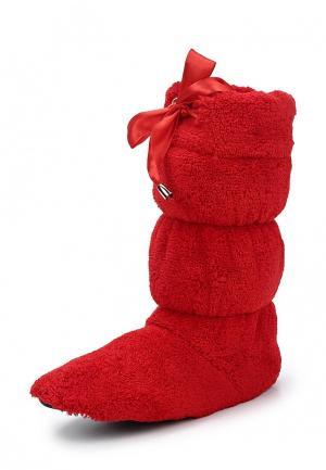 Тапочки Cleo. Цвет: красный