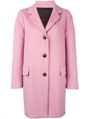 Однобортное пальто Alberto Biani. Цвет: розовый и фиолетовый