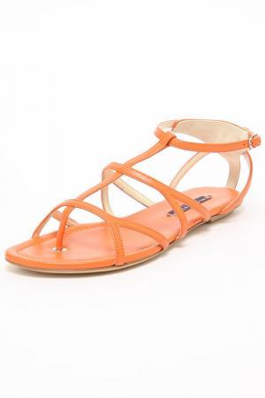 Сандалии Ralph Lauren. Цвет: оранжевый