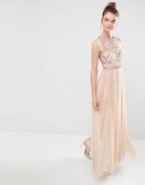 Frock and Frill Платье макси. Цвет: розовый