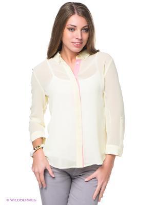 Блузка ESPRIT. Цвет: светло-желтый