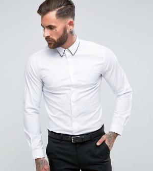 Heart & Dagger Зауженная рубашка с отделкой. Цвет: белый
