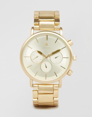 ASOS Золотистые часы-браслет. Цвет: золотой