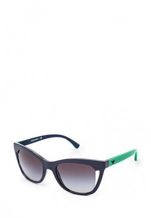 Очки солнцезащитные Emporio Armani. Цвет: фиолетовый