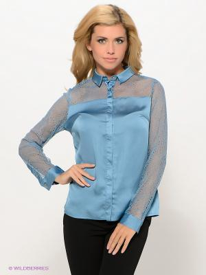 Блузка PELICAN. Цвет: синий