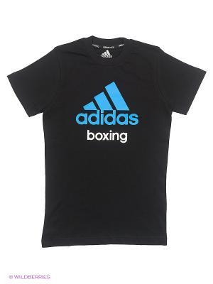 Футболка детская Community T-Shirt Boxing Kids Adidas. Цвет: черный, синий