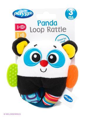 Игрушка-погремушка Панда Playgro. Цвет: черный, белый