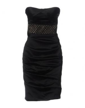 Платье до колена ELISABETTA FRANCHI. Цвет: черный