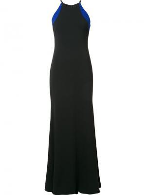 Вечернее платье с вырезом-халтер Badgley Mischka. Цвет: чёрный