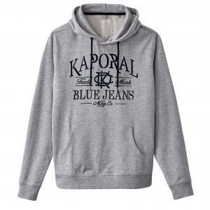 Свитшот с капюшоном Twork KAPORAL 5. Цвет: серый меланж,темно-синий