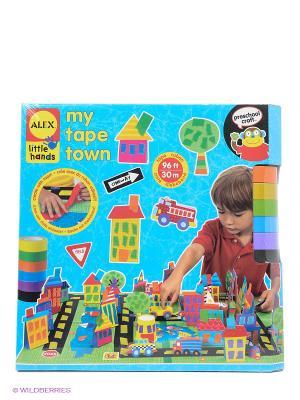 Набор для поделок из цветной ленты Город Alex. Цвет: голубой