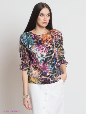 Блузка Classic Style. Цвет: морская волна, терракотовый, фуксия