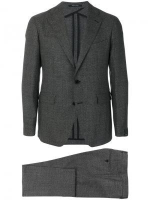Классический деловой костюм Tagliatore. Цвет: серый