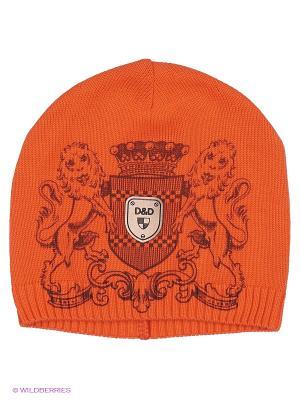 Шапка Dan&Dani. Цвет: оранжевый