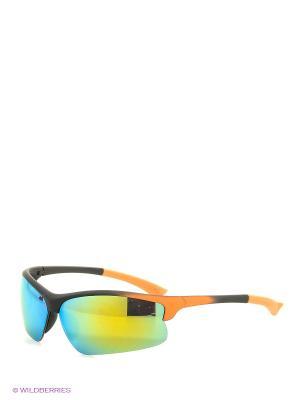 Солнцезащитные очки Vita pelle. Цвет: черный, зеленый, оранжевый