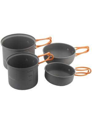Набор посуды для приготовления OUTVENTURE. Цвет: черный