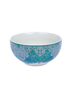 Салатница Джайпур голубой Elff Ceramics. Цвет: голубой, белый