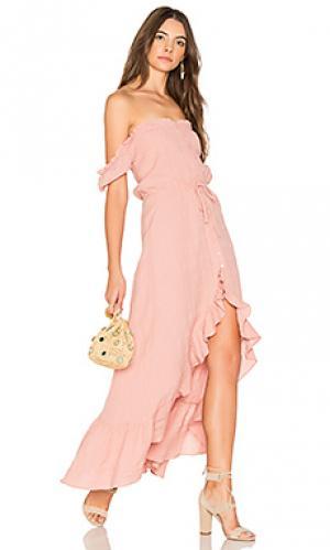 Дневное платье willow AUGUSTE. Цвет: розовый