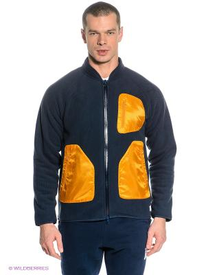 Кофта Adidas. Цвет: темно-синий, оранжевый