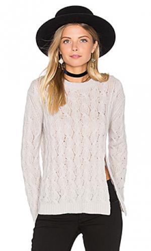 Укороченный свитер из кашемира Inhabit. Цвет: серый