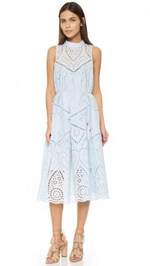 Платье Epoque со вставками с вышивкой Zimmermann. Цвет: нуар