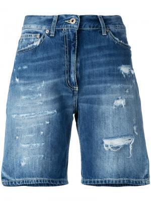 Рваные джинсовые шорты Dondup. Цвет: синий