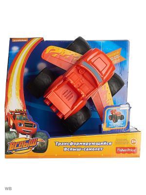 Вспыш и Чудо-машинки - Трансформирующийся Вспыш-самолет Mattel. Цвет: синий, красный