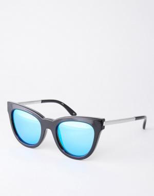 Le Specs Зерркальные солнцезащитные очки кошачий глаз Exclusive Deb. Цвет: черный