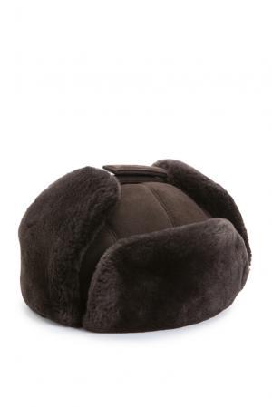 Замшевая шапка с отделкой из меха шиншиллы 158179 Zilli. Цвет: коричневый