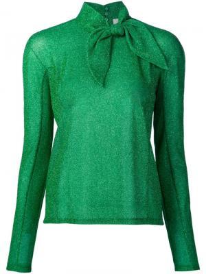 Блузка с бантом Delpozo. Цвет: зелёный