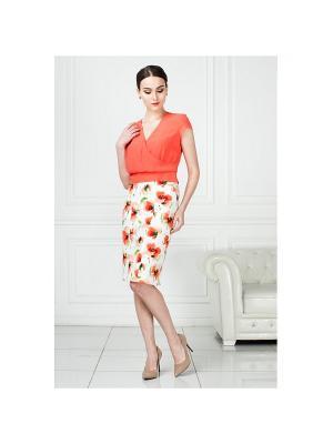 Блузка KEY FASHION. Цвет: коралловый
