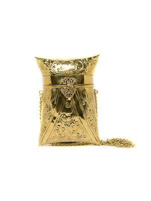Сумка-клатч из металла Indira. Цвет: золотистый