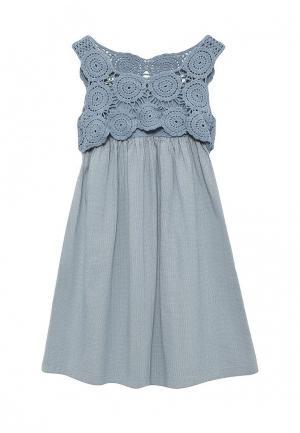 Платье Sisley. Цвет: голубой