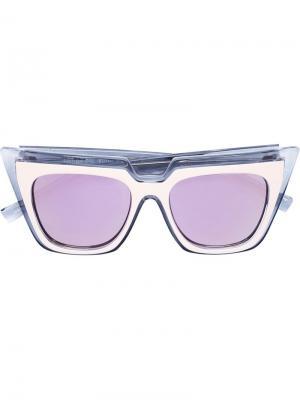 Солнцезащитные очки Self Portrait x Le Specs. Цвет: розовый и фиолетовый