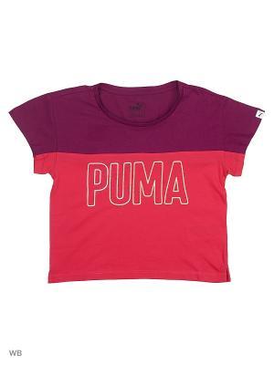Футболка Style Trend Tee PUMA. Цвет: малиновый, фиолетовый