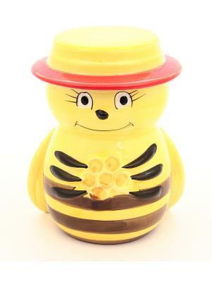 Горшочек для меда Пчелка Elan Gallery. Цвет: желтый