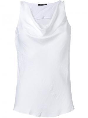 Блузка Tank Roberto Collina. Цвет: белый