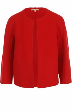 Жакет с круглым вырезом и укороченным рукавом Michael Kors Collection. Цвет: красный