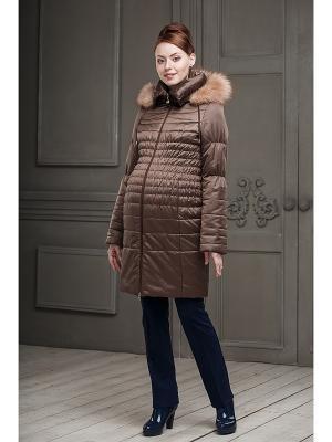 Пальто DIDILIYA. Цвет: коричневый