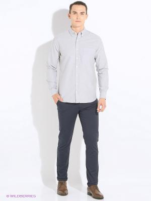 Рубашка MANGO MAN. Цвет: серый