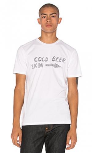 Футболка cold beer Altru. Цвет: белый