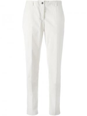 Укороченные брюки Aalto. Цвет: белый