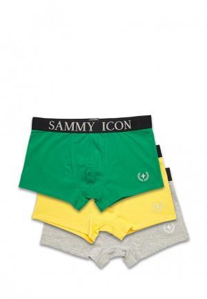 Комплект трусов 3 шт. Sammy Icon. Цвет: разноцветный