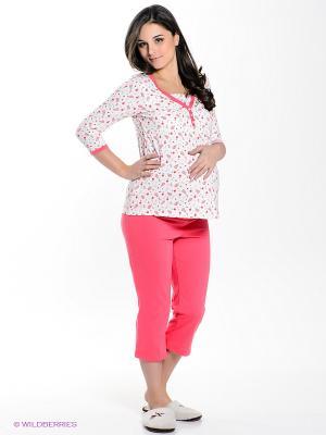 Пижама Hunny Mammy. Цвет: малиновый, молочный