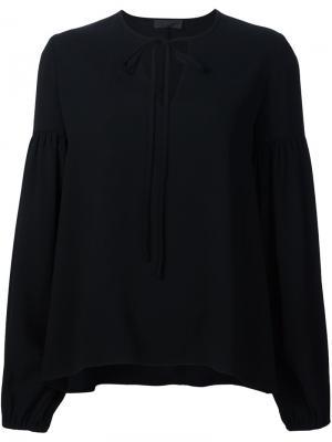Блузка c V-образным вырезом Co. Цвет: чёрный