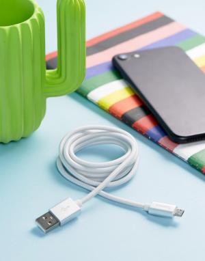 Hama Серебристый кабель микро-USB. Цвет: мульти