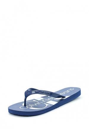 Шлепанцы Calvin Klein Jeans. Цвет: синий